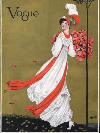 Vogue Cover - August 1911 by George Wolfe Plank