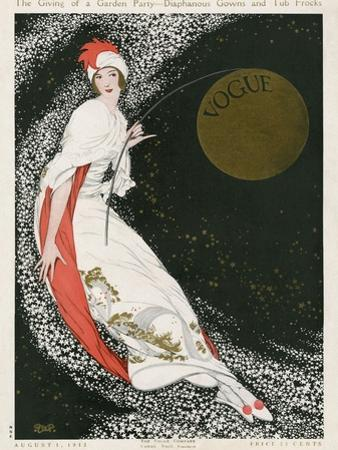 Vogue Cover - August 1912 - Moon Goddess by George Wolfe Plank