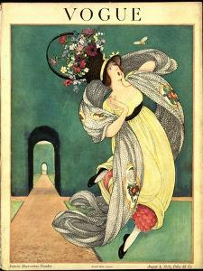 Vogue Cover - August 1918 by George Wolfe Plank