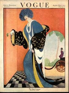 Vogue Cover - August 1919 by George Wolfe Plank