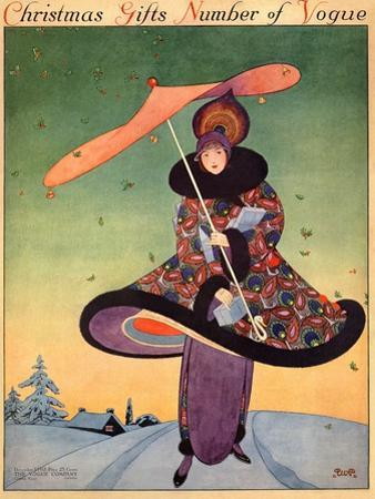 Vogue Cover - December 1913 by George Wolfe Plank