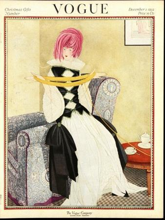 Vogue Cover - December 1922 by George Wolfe Plank
