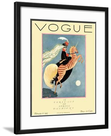 Vogue Cover - February 1927 by George Wolfe Plank