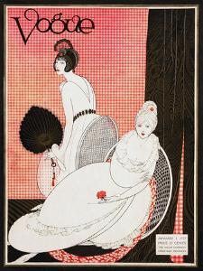 Vogue Cover - January 1913 by George Wolfe Plank