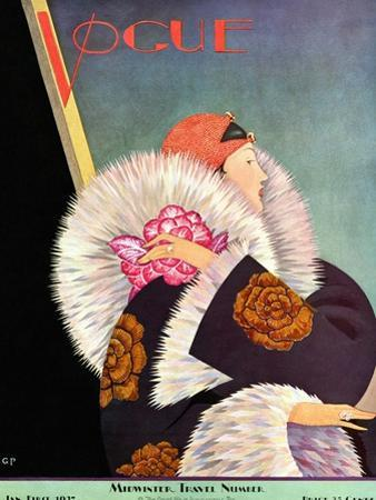 Vogue Cover - January 1927 by George Wolfe Plank