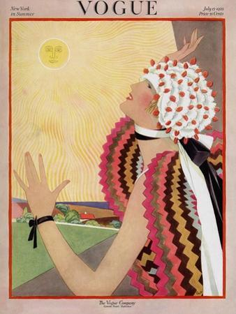 Vogue Cover - July 1922 by George Wolfe Plank