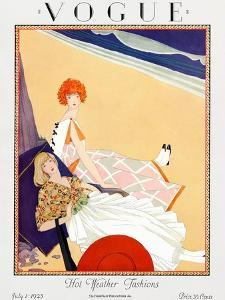 Vogue Cover - July 1923 by George Wolfe Plank