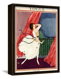 Vogue Cover - June 1921 by George Wolfe Plank