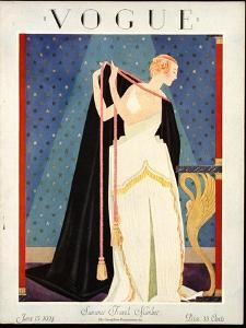 Vogue Cover - June 1924 by George Wolfe Plank