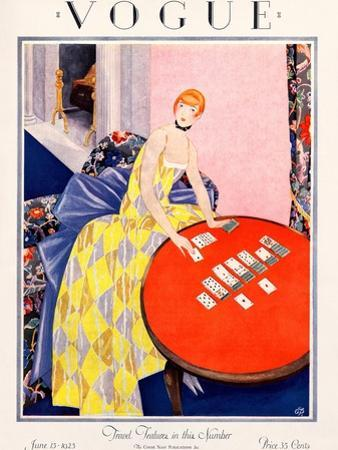 Vogue Cover - June 1925 by George Wolfe Plank