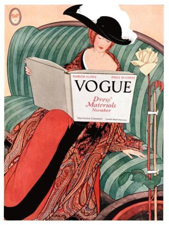 Vogue Cover - March 1912 by George Wolfe Plank