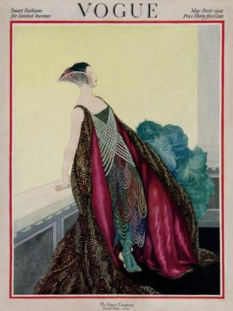 Vogue Cover - May 1921 by George Wolfe Plank