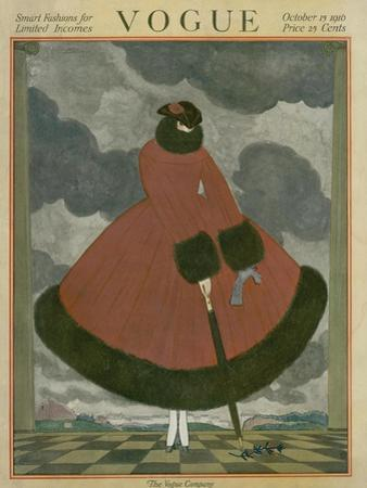 Vogue Cover - October 1916 by George Wolfe Plank