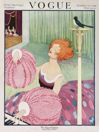 Vogue Cover - October 1919 by George Wolfe Plank