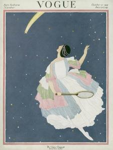 Vogue Cover - October 1921 by George Wolfe Plank