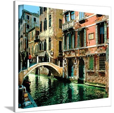 George Zucconi 'Venice Canal ' Wrapped Canvas-George Zucconi-Gallery Wrapped Canvas