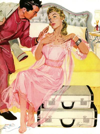 "Georgeous Decoy - Saturday Evening Post ""Leading Ladies"", June 12, 1954 pg.27-Robert Meyers-Giclee Print"
