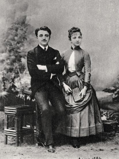 Georges and Jeanne Hugo, Grandchildren of French Novelist Victor Hugo, 1884--Giclee Print