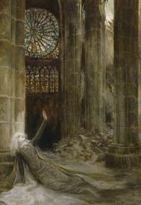 Intérieur de cathédrale by Georges Antoine Rochegrosse
