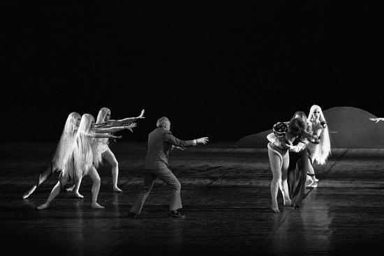 Georges Balanchineworking with the dancers of the Paris Opera, Palais Garnier, Paris,1973.-Erich Lessing-Photographic Print