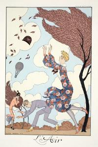 Air, from 'Falbalas and Fanfreluches, Almanach des Modes Présentes, Passées et Futures', 1926 by Georges Barbier