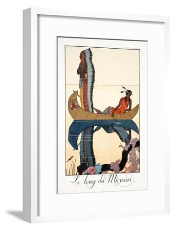 Along the Missouri, from 'Falbalas and Fanfreluches, Almanach des Modes Présentes, Passées et…
