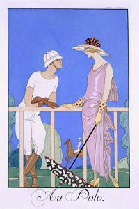 At Polo, 1920-29 by Georges Barbier