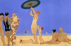 At the Lido by Georges Barbier
