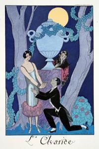 Avarice, from 'Falbalas and Fanfreluches, Almanach des Modes Présentes, Passées et Futures', 1925 by Georges Barbier