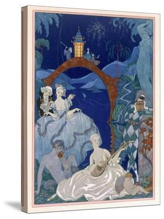 Ball under the Blue Moon, Illustration For Fetes Galantes by Paul Verlaine
