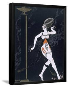 Ballet Scene with Tamara Karsavina (1885-1978) 1914 (Pochoir Print) by Georges Barbier