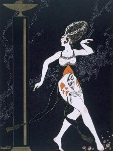 Ballet Scene with Tamara Karsavina (1885-1978) 1914 (Pochoir Print) by Georges Barbier
