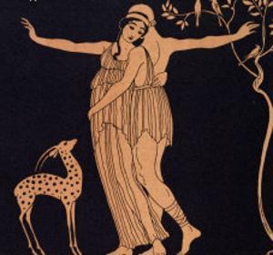 Ballet Scene with Tamara Karsavina 1914 by Georges Barbier