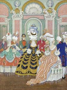 Ballroom Scene, Illustration from Les Liaisons Dangereuses by Pierre Choderlos de Laclos by Georges Barbier