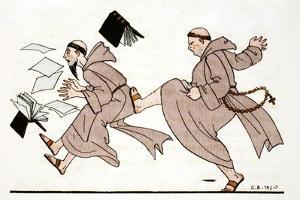 Being Chased by the Abbot, 1920 by Georges Barbier