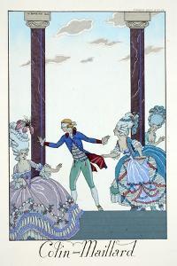 Blind Man's Bluff, from 'Falbalas and Fanfreluches, Almanach des Modes Présentes, Passées et… by Georges Barbier