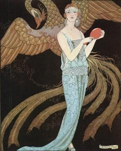 Blue Dress by Beer by Georges Barbier