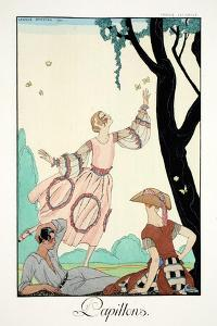 Butterflies, from 'Falbalas and Fanfreluches, Almanach des Modes Présentes, by Georges Barbier