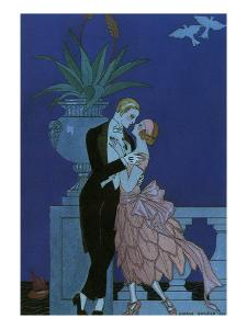 By the Railing, 1921 by Georges Barbier