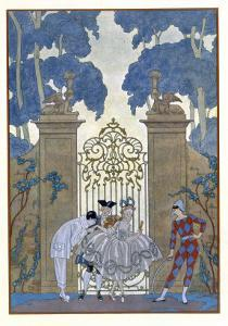 Columbine, Illustration For Fetes Galantes by Paul Verlaine by Georges Barbier