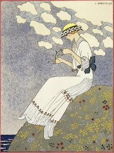 Design for a country dress by Maison Paquin, 1913 by Georges Barbier