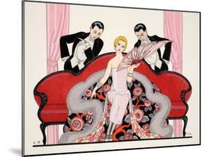 Detail of the Front Cover of 'Falbalas and Fanfreluches, Almanach des Modes by Georges Barbier