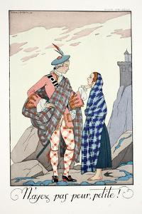 Do Not Be Afraid, Little One!, from 'Falbalas and Fanfreluches, Almanach des Modes Présentes,… by Georges Barbier