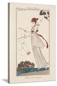 Dress in Printed Linen, Illustration from 'Journal des Dames et des Modes', 1913 by Georges Barbier
