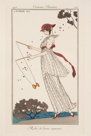 Dress in Printed Linen, Illustration from 'Journal des Dames et des Modes', 1913