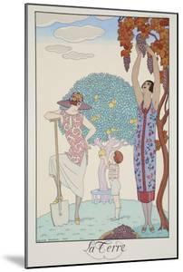 Earth, from 'Falbalas and Fanfreluches, Almanach des Modes Présentes, Passées et Futures', 1925 by Georges Barbier