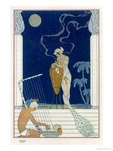 Egypt, from The Art of Perfume, c.1912 by Georges Barbier