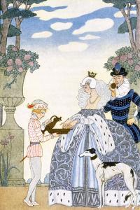 Elizabethan England, from 'The Art of Perfume', Pub. 1912 (Pochoir Print) by Georges Barbier