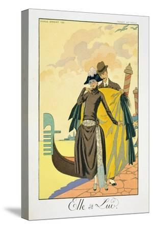 Elle Et Lui, 1921 (Pochoir Print)