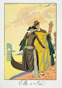 Elle Et Lui, 1921 (Pochoir Print) by Georges Barbier